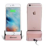 iPhone Charger Dock,BAVIER® iPhone Desk Charger,Charge and Sync Stand for iPod,iPhone 5 5s iPhone 6 iPhone 6s plus,iPhone Charger Station (rose golden)