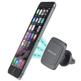 Car Mount, Nekteck Magnetic Cradle-less Universal Car Phone Air Vent Holder with Swivel for iPhone 6S/ 6 6 Plus, 5, 5s, 4, Samsung Galaxy S6/S7 Edge Plus S5 Note 5 4 3, LG G5, Nexus 6P 5X More, Black