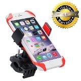 Bike Mount,Levin Universal Smartphone Bike Mount Holder with 360 dgree Rotate for iPhone 6s /6 /5s /5c/5,Samsung Galaxy S5/S4/S3, Google Nexus 5/4, LG G3, HTC and GPS Device