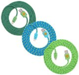 6ft High Quality Lighting Cord Hi-Speed Braided Lightning Cable for iPhone 6s, 6, 6 Plus, 6S Plus (teal blu grn)