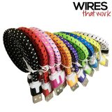 Wires That Work 3366956 Braided Nylon 8 Pin to USB Lightning Charging Cables for iPhone 5,5C,5S,6,6 Plus, iPad 4 Mini, iPod Touch 5,Nano 7 – 2 Pack – Assorted Colors