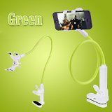 DaGou Cell Phone Clip Holder Stand Gooseneck Clip Clamp Mount on Car, Desk, with Fully Function (Green)