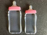 Generic Baby Bottle Cute 3D TPU Soft Pregnant Woman Milk Bottle Clear Case Lanyard Case Cover for iPhone 6 (Pink)