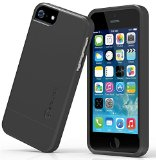 iPhone 5 5S Case: Stalion® Slider Series Matte-UV Textured Sliding Style Protective Hard Case (Matte Black)