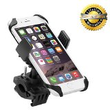 Motorcycle Phone Mount, Levin Universal Smartphone Bike Mount Holder with 360 dgree Rotate for iPhone 6s /6 /5s /5c/5,Samsung Galaxy S5/S4/S3, Google Nexus 5/4, LG G3, HTC and GPS Device ¡­