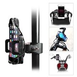 Bike mount, GULAKI Universal Bike Phone Holder Motorcycle Handlebar Mount Bike Mount for iPhone 6S/6 Plus/5/5S/5C/4/4S Samsung Galaxy S6/S4/S5/S3/NOTE 4/3/2 Motorola Droid RAZR/MAXX HTC One X LG GPS Holder (Black)
