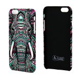 iPhone 6 6S Night Luminous Case,Case-cubic [Anti-Scratches][Excellent Grip][Matte Skin]Animal Totem PC Hard Cover for iPhone 6S-New Tribal Elephant