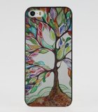 For iPhone 5C Case, Fashion Design Tree Of Life Pattern Protective Hard Phone Cover Skin Case For iPhone 5C +Screen Protector